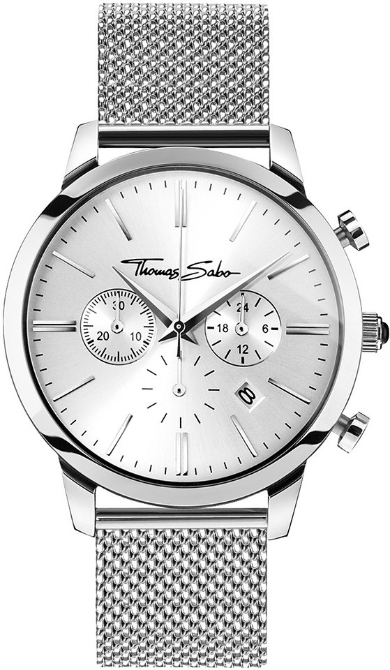 Thomas Sabo Chronograph »REBEL SPIRIT CHRONO, WA0244« in silberfarben