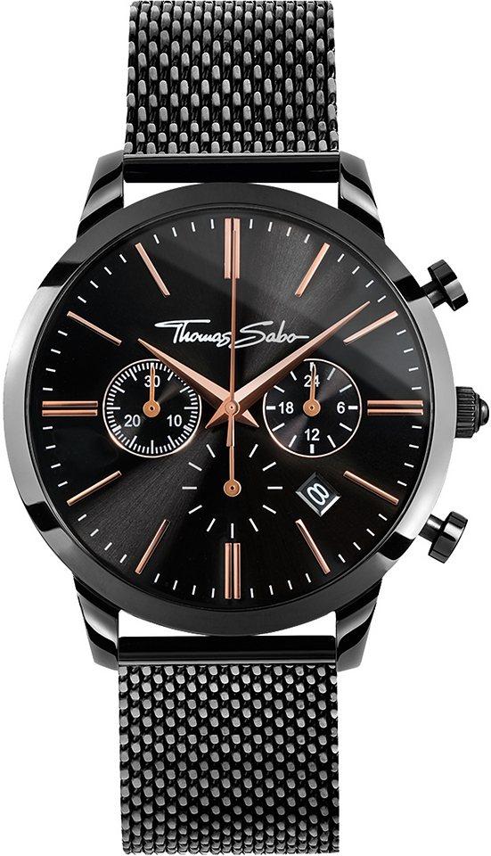 Thomas Sabo Chronograph »REBEL SPIRIT CHRONO, WA0247« in schwarz