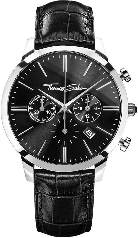 Thomas Sabo Chronograph »REBEL SPIRIT CHRONO, WA0242« in schwarz