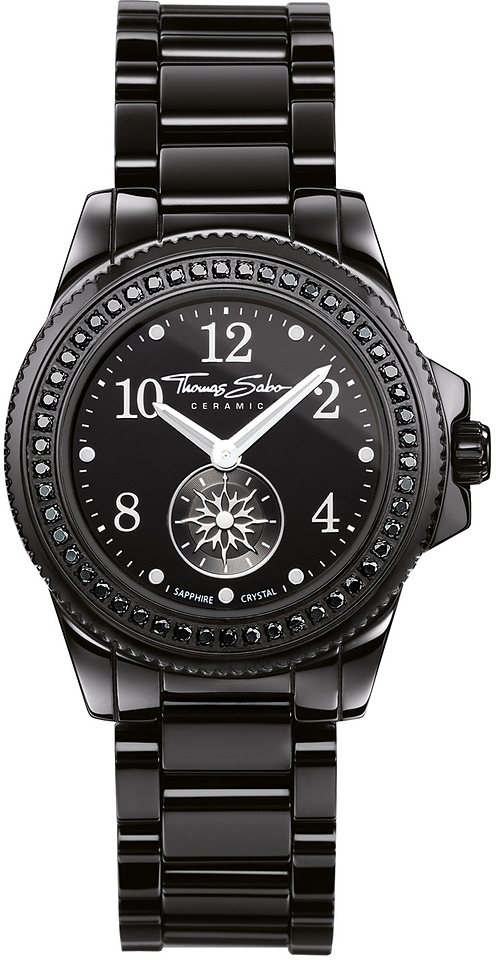 Thomas Sabo Quarzuhr »GLAM CHIC, WA0159« in schwarz