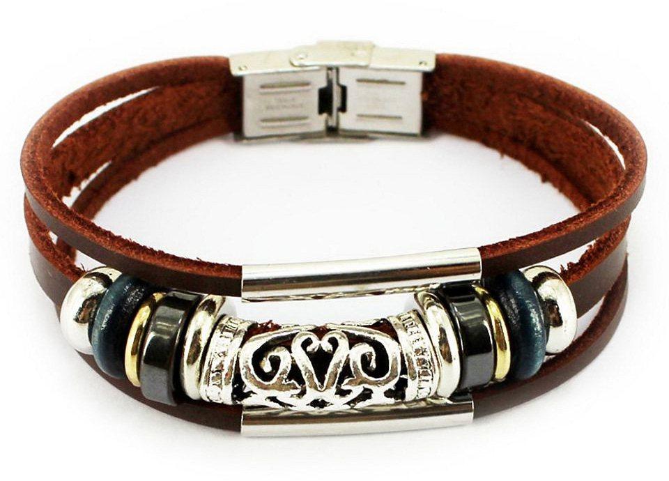 firetti Armband in Braun-Silberfarben