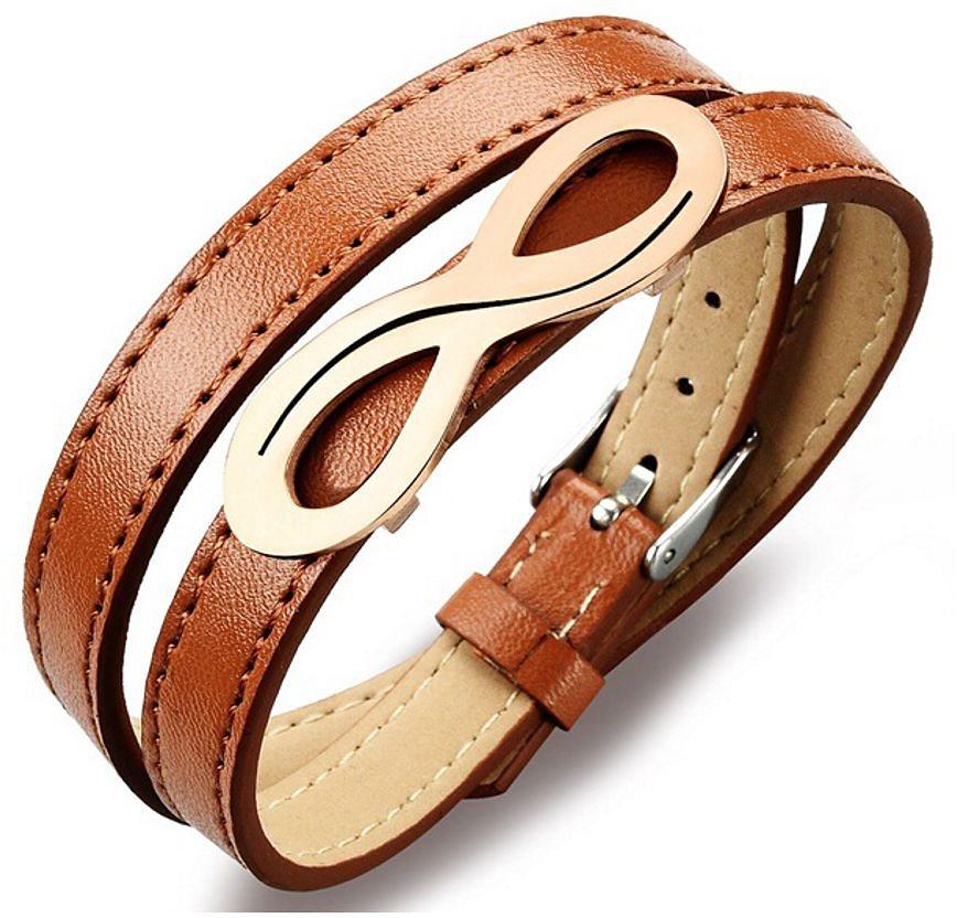 firetti Armband zum Wickeln, »Unendlichkeit« in Roségoldfarben-Braun