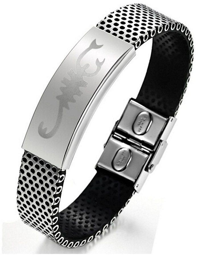 firetti Armband, »Skorpion« in Silberfarben-Schwarz