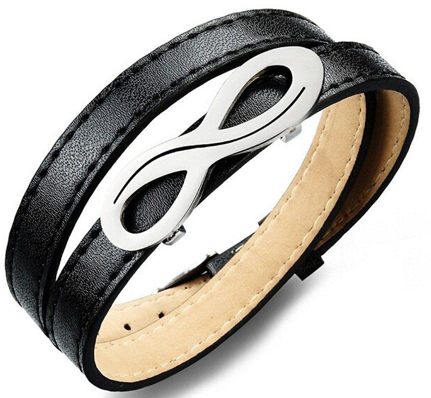 firetti Armband zum Wickeln, »Unendlichkeit« in Silberfarben-Schwarz
