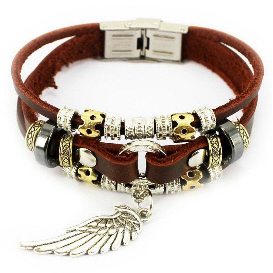 firetti Armband, »Flügel« in Silberfarben-Braun