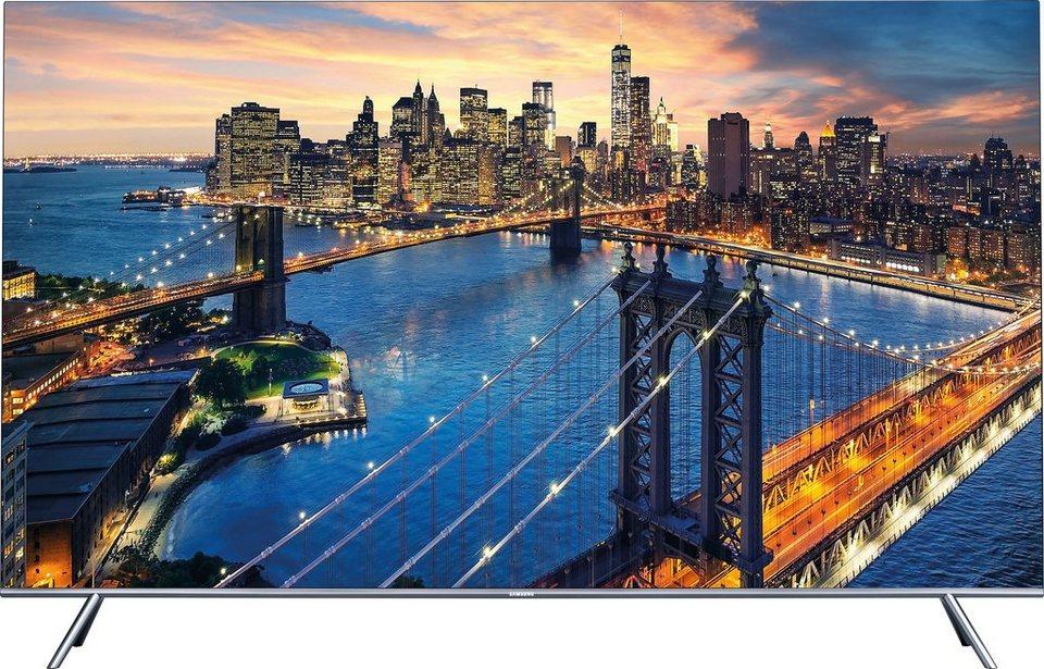 Samsung UE49KS7090UXZG, LED Fernseher, 123 cm (49 Zoll), 2160p (SUHD), Smart-TV in silberfarben