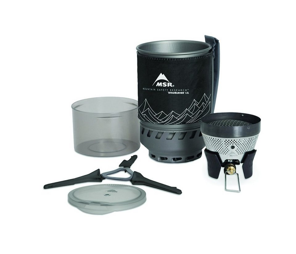 MSR Camping-Kocher »WindBurner Stove System 1,8L« in schwarz