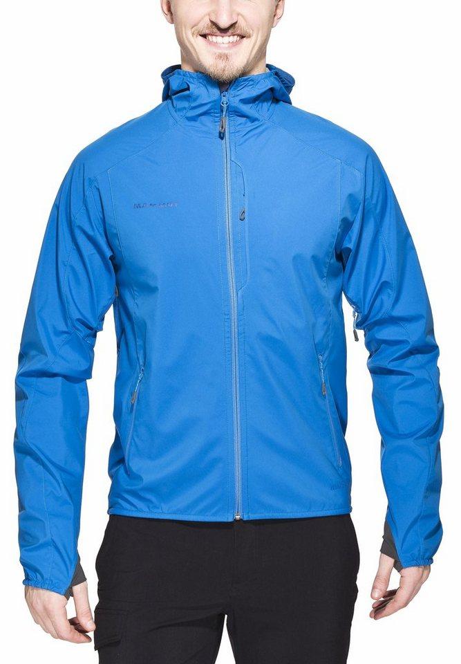 Mammut Softshelljacke »Ultimate Light SO Hooded Jacket Men« in blau