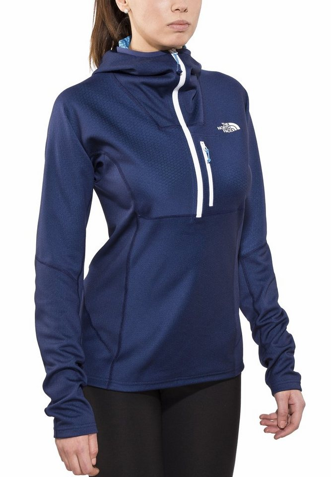 The North Face Pullover »FuseForm Dolomiti 1/4 Zip Hoodie Women« in blau