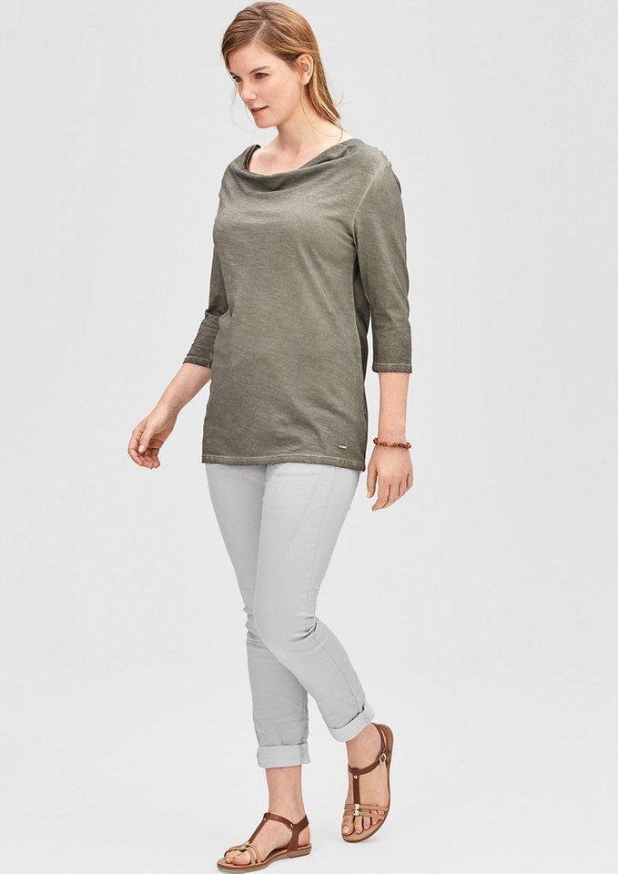 TRIANGLE Curvy: Stretchige Twillhose in soft grey