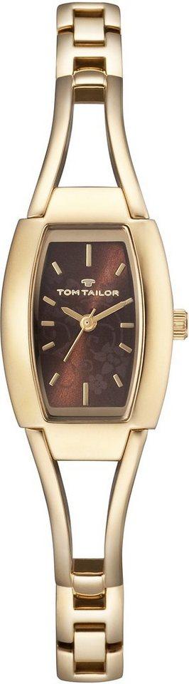 Tom Tailor Armbanduhr, »5412805« in goldfarben-braun