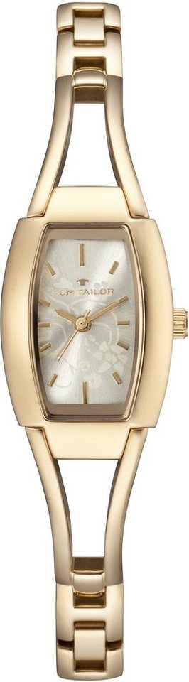 Tom Tailor Armbanduhr, »5412804« in goldfarben