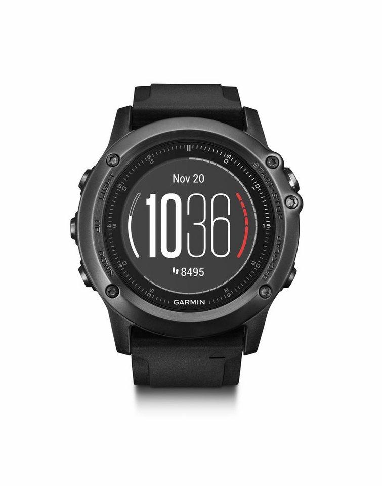Garmin Sportuhr »fenix 3 HR Saphir GPS Multisportuhr Performer« in schwarz