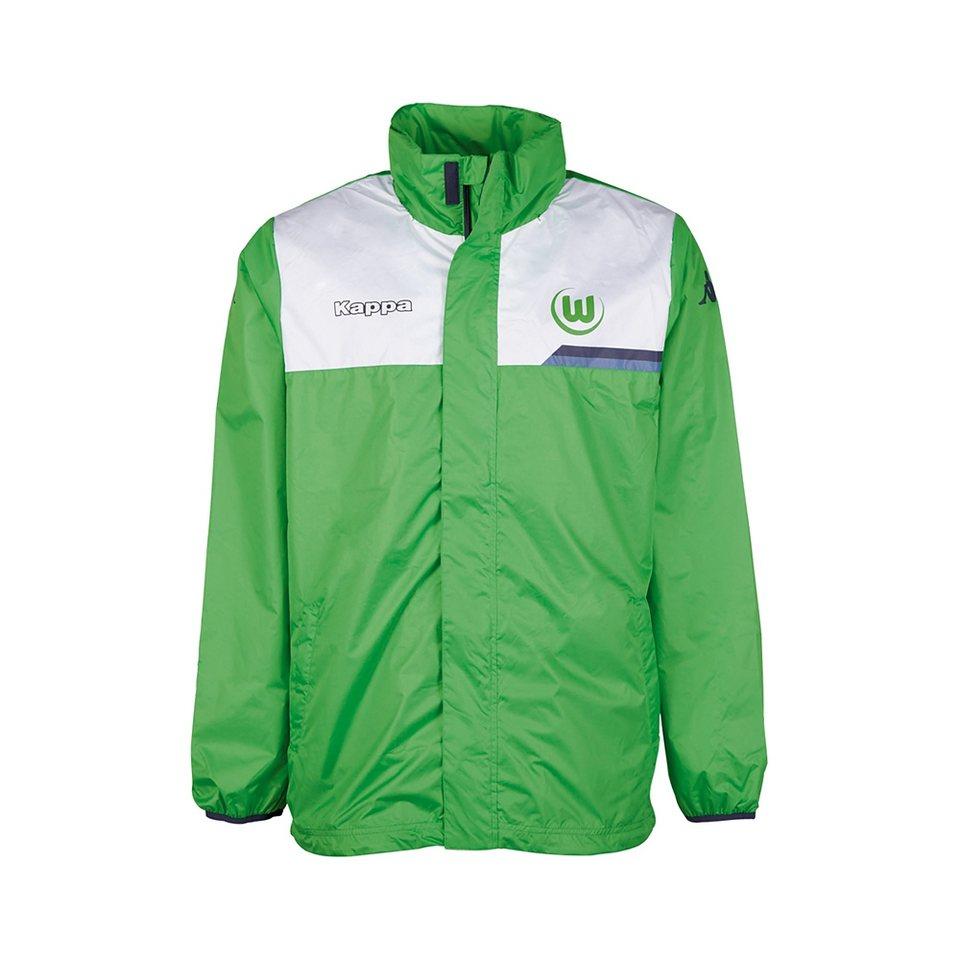 KAPPA Fan Artikel »VfL Wolfsburg Regenjacke Kids 15-16« in classic green