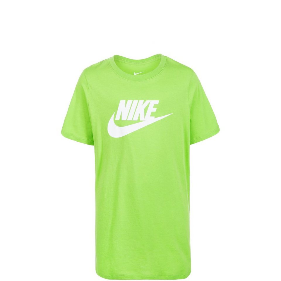 NIKE Futura Icon Trainingsshirt Kinder in hellgrün / weiß