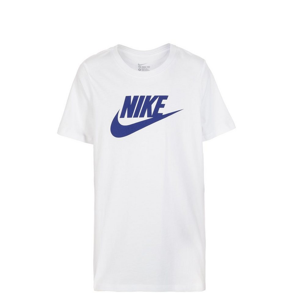 NIKE Futura Icon Trainingsshirt Kinder in weiß / dunkelblau