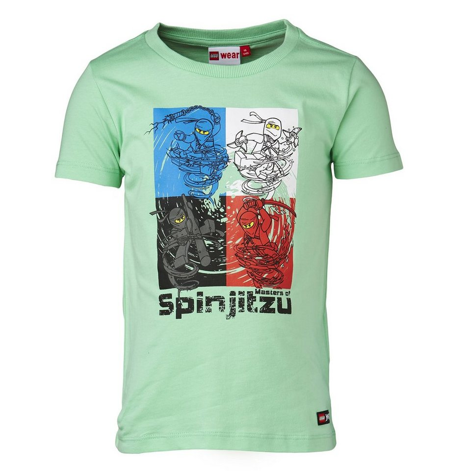 "LEGO Wear Ninjago T-Shirt Tony ""Spinjitzu"" kurzarm Shirt in grün"