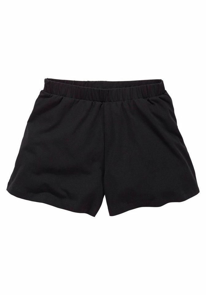 kidsworld Shorts, für Mädchen in Schwarz