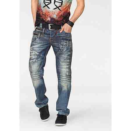 Cipo & Baxx Loose-fit-Jeans mit vielen Details