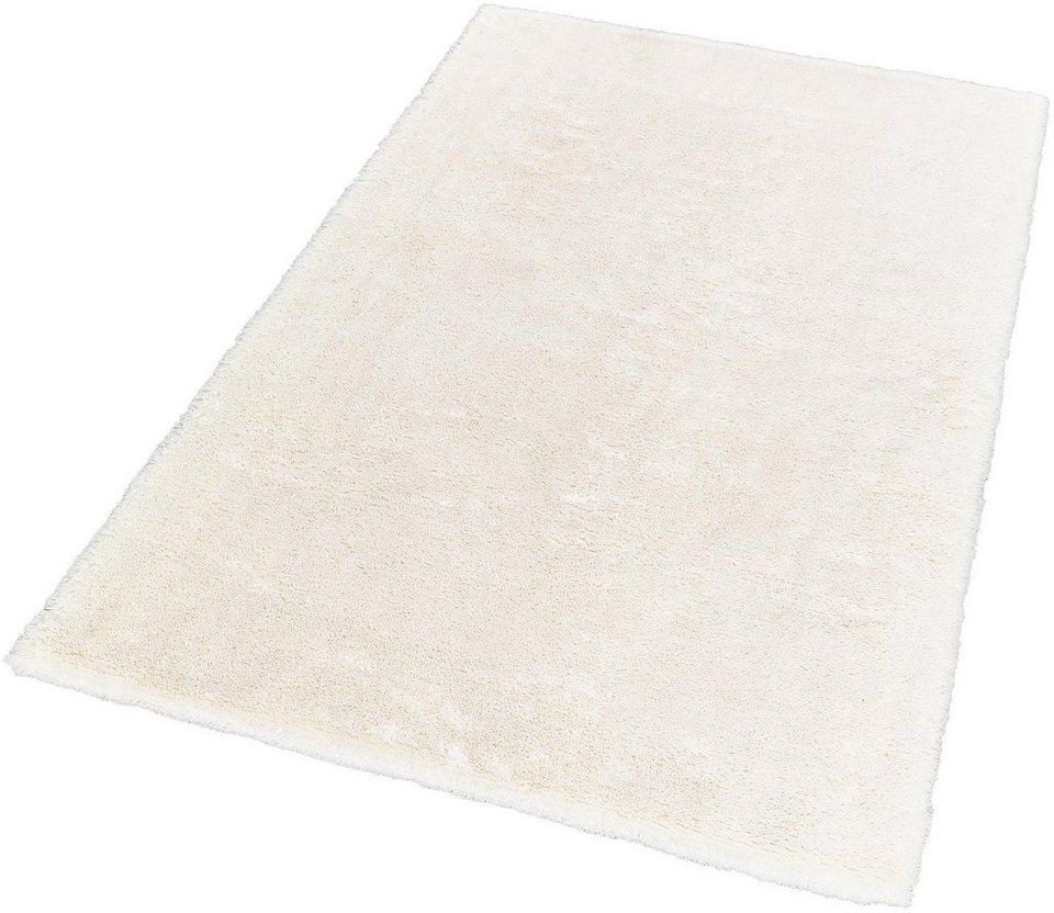 Hochflor-Teppich, Schöner Wohnen, »Harmony«, Höhe 35 mm, getuftet, Wunschmaß in weiß