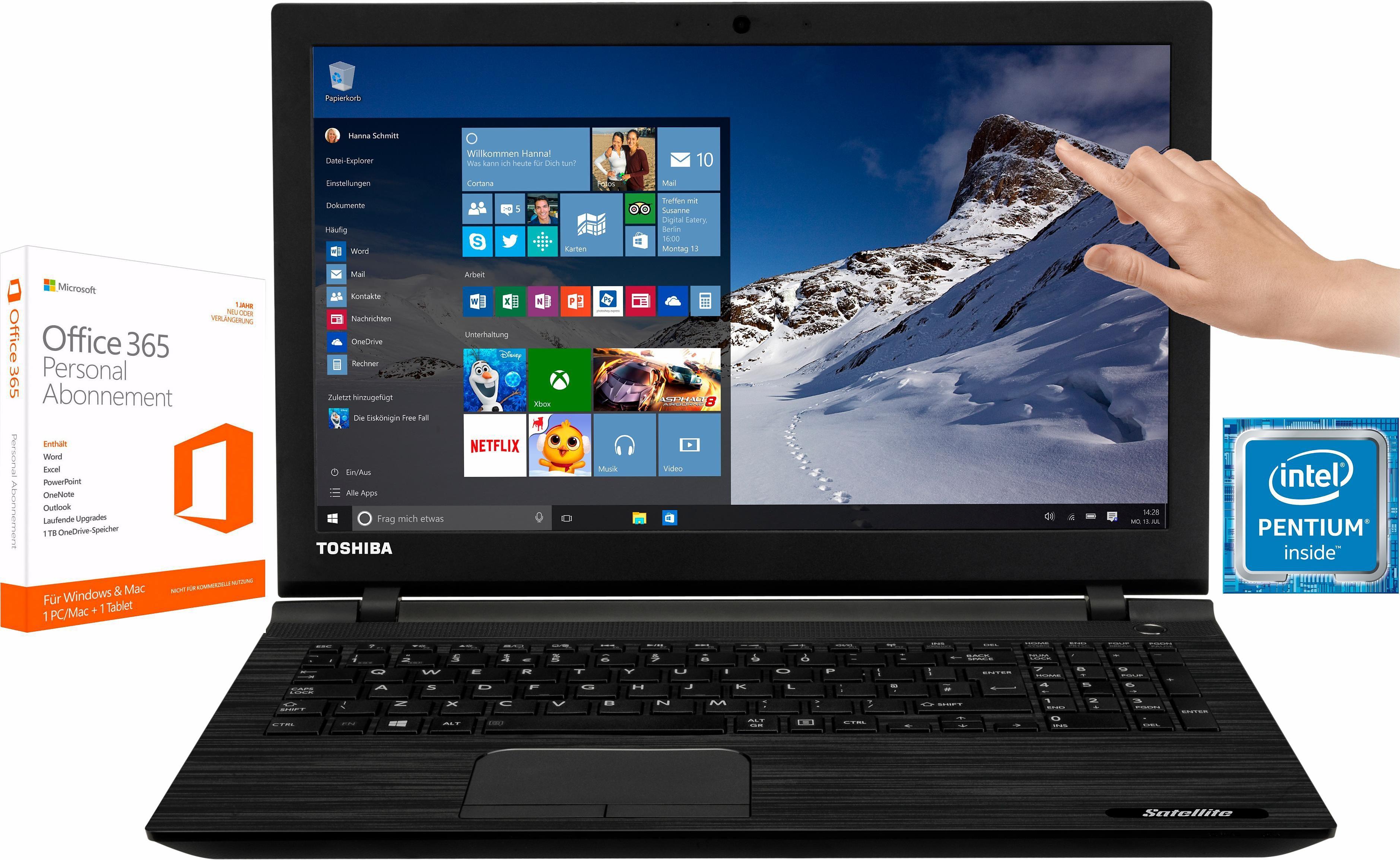"""Toshiba Satellite C55t-C Notebook + 1 Jahr """"egal was passiert Garantie""""* + McAfee Livesafe*"""