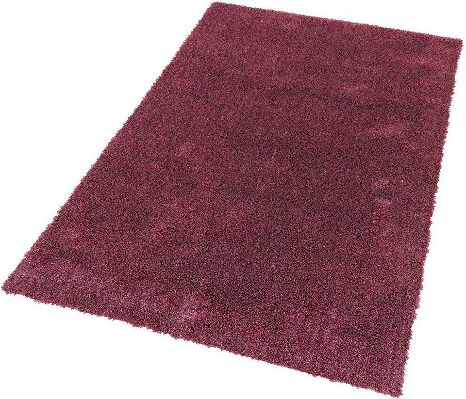 Hochflor-Teppich, Schöner Wohnen, »New Feeling«, Höhe 40 mm, getuftet, Wunschmaß in rosa