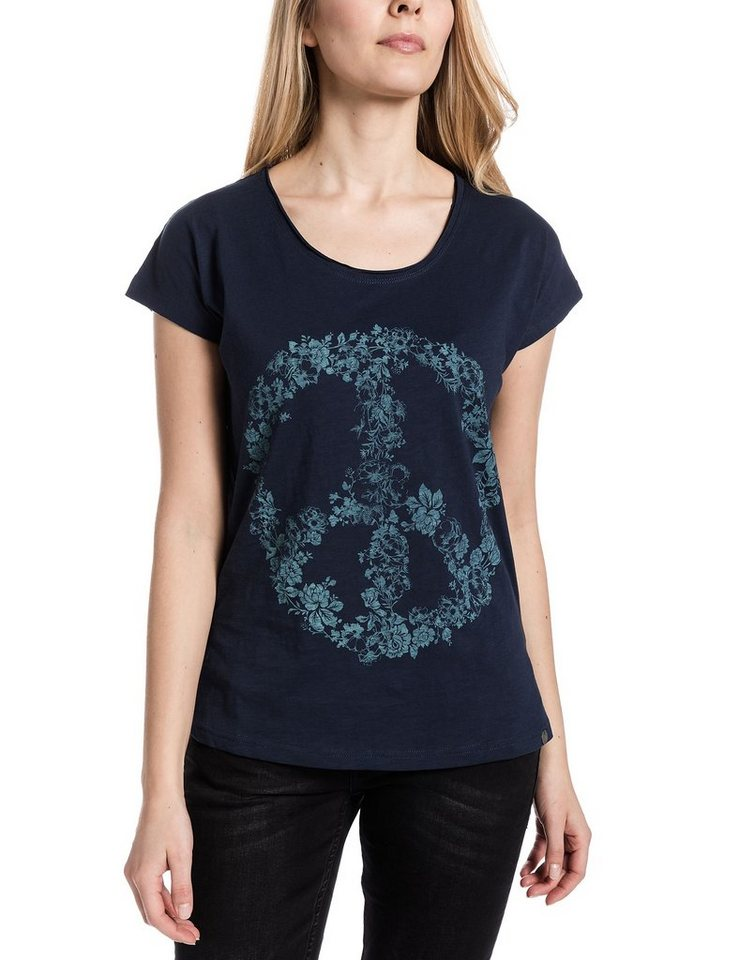 TIMEZONE T-Shirts (mit Arm) »Loosefit t-shirt« in mood indigo