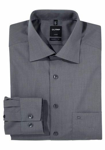 OLYMP Businesshemd »Luxor modern fit« extra lange Ärmel, bügelfrei, mit Brusttasche, unifarben