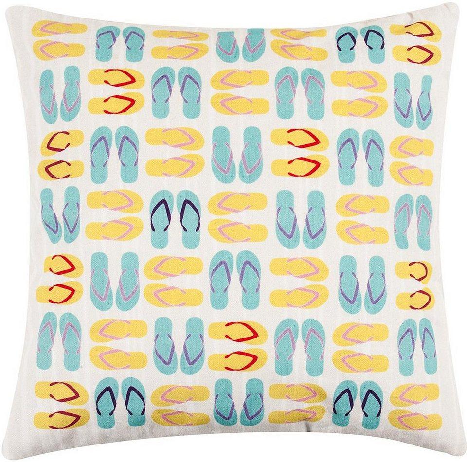 Kissenbezug, pad, »Flip Flop«, mit bunten Schuh-Motiven in multi