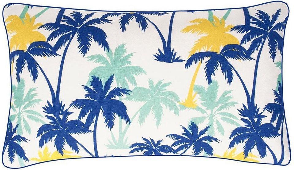 Kissenbezug, pad, »Bacardi«, mit Palmen Motiven in blau