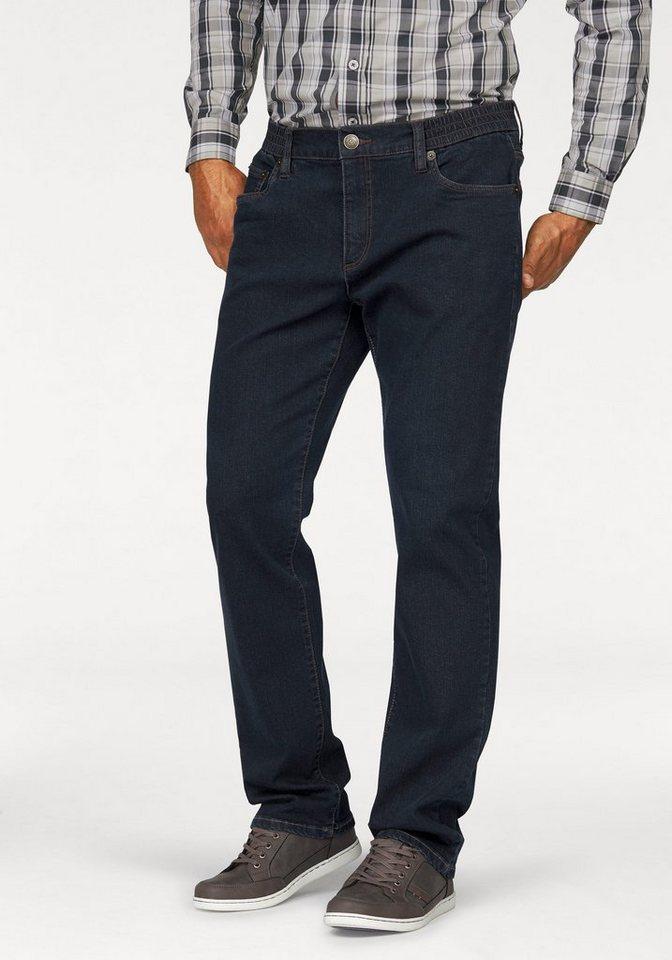 Man's World Stretch-Jeans mit seitlichem Dehnbund in darkblue-black