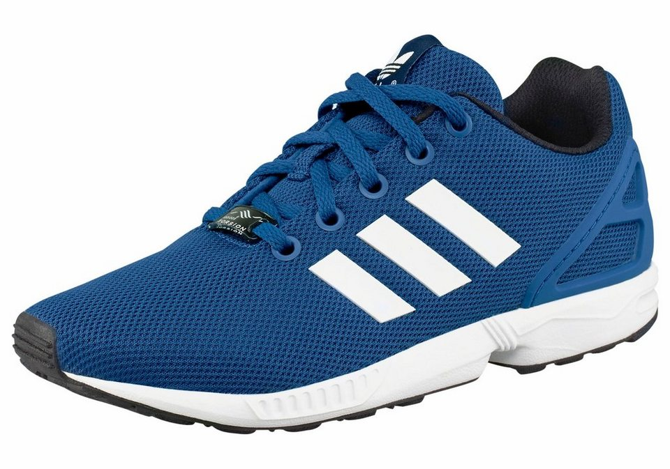 adidas Originals ZX Flux K Sneaker in Blau-Weiß