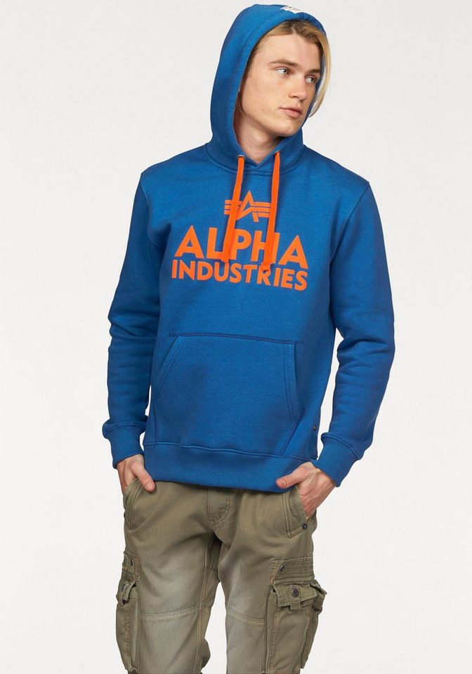 Alpha Industries Sweatshirt in royalblau