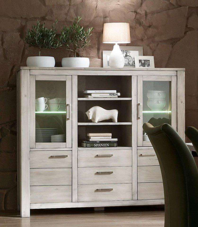 favorit highboard lucca breite 161 cm mit 2 glas und. Black Bedroom Furniture Sets. Home Design Ideas