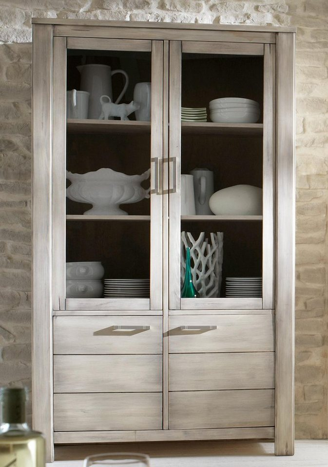 Premium collection by Home affaire Vitrine »Lucca«, Höhe 190 cm in tundra