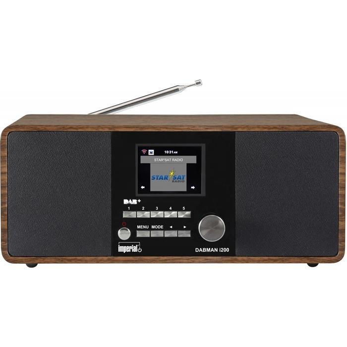 IMPERIAL Hybrid-Stereo-Radio »DABMAN i200« in Holzoptik