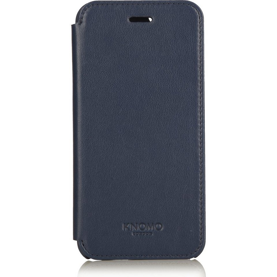 Knomo Smatphonecase Leder für iPhone 6, iPhone 6s »Leather Folio« in blau