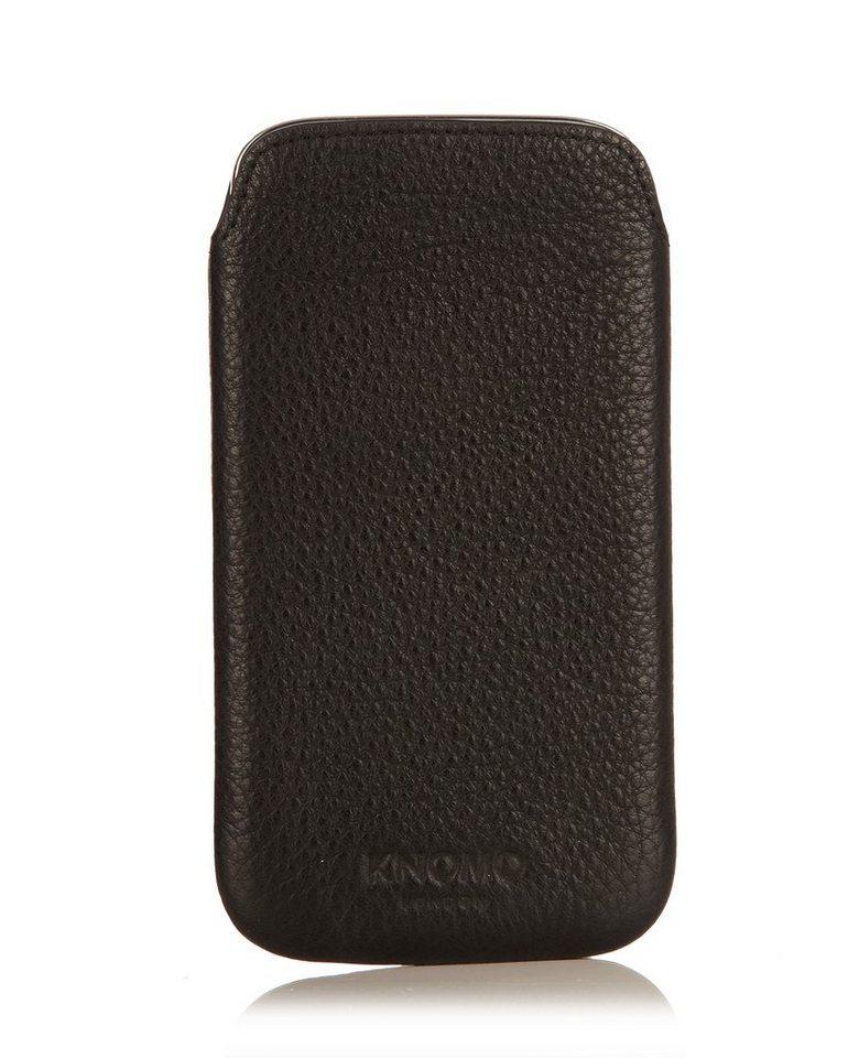 Knomo Smartphonehülle für das Samsung Galaxy S4 »Leather Slim« in schwarz