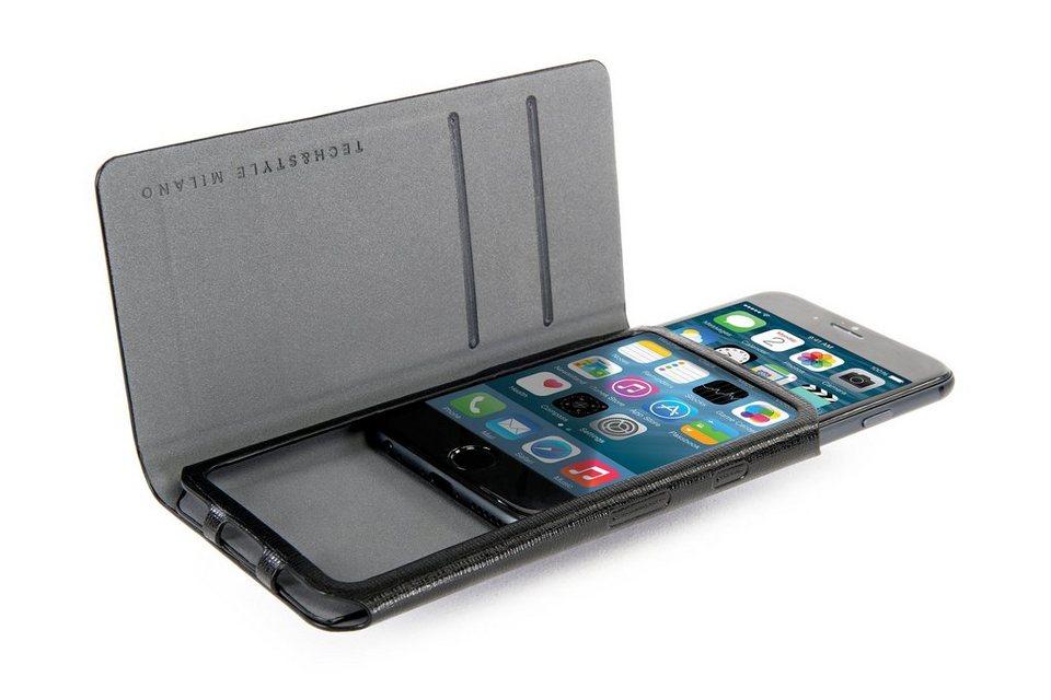 Tucano Booklet-Case Ecoleder für iPhone 6, 6S »Leggero« in Schwarz