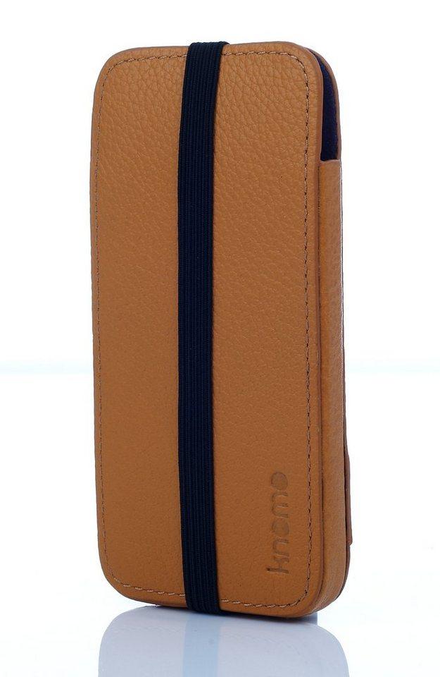 Knomo Lederhülle für iPhone 5, iPhone SE »Sleeve« in ocker