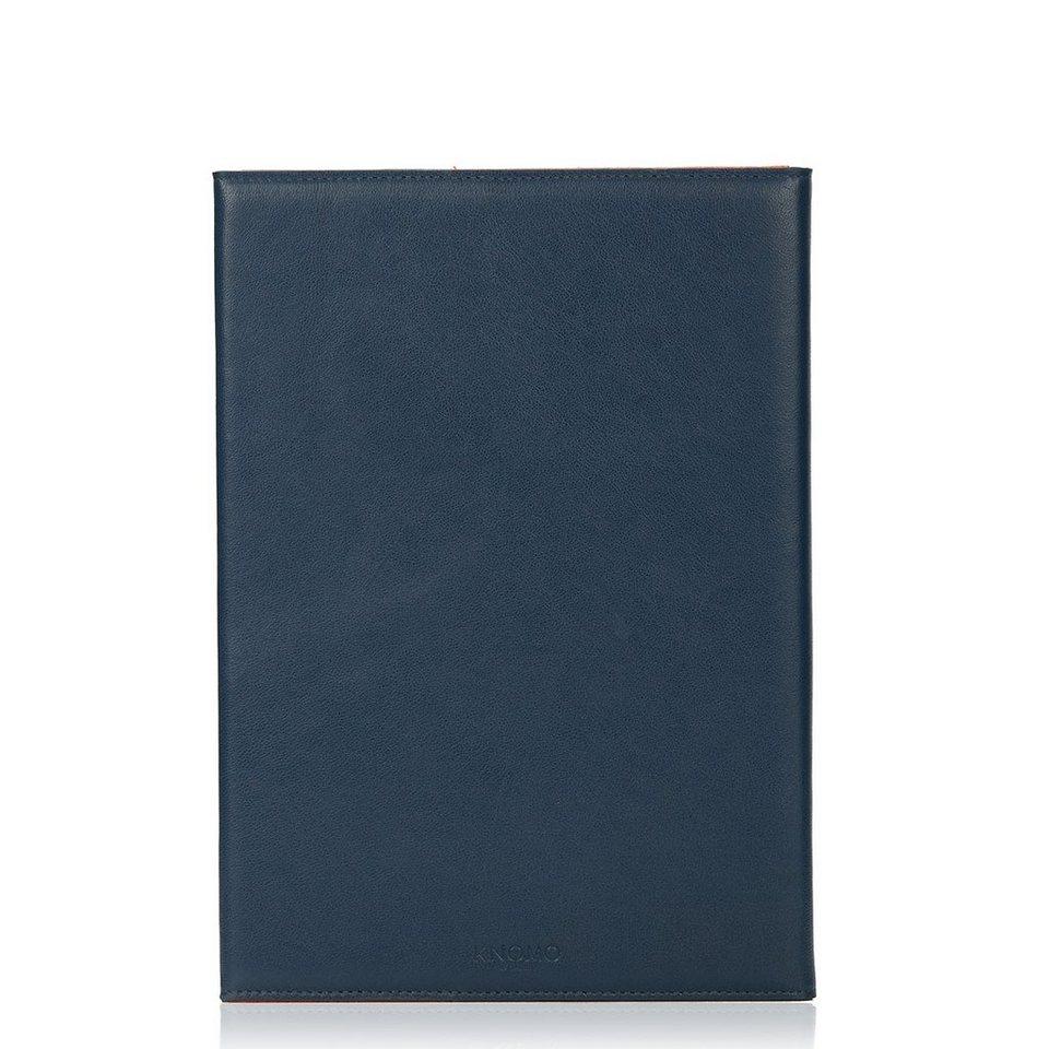 Knomo Foliocase aus Leder für iPad Air 2 mit Drehgelenk »Premium Leather Folio« in blau