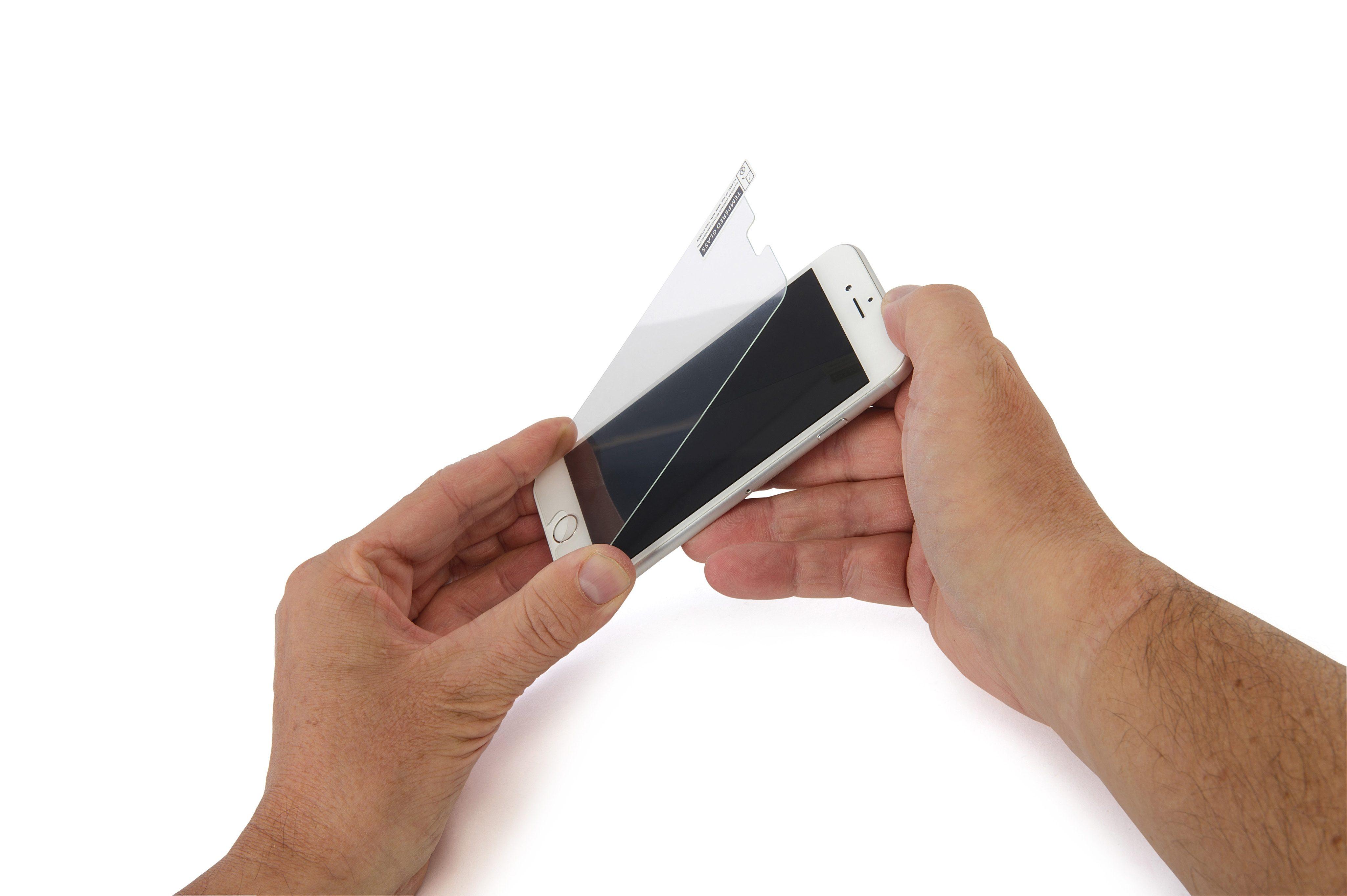 Tucano Displayschutz aus gehärtetem Glas für iPhone 6, 6S »Temper«