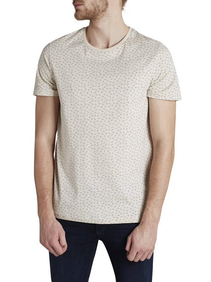 Jack & Jones Vogelprint T-Shirt in Rainy Day