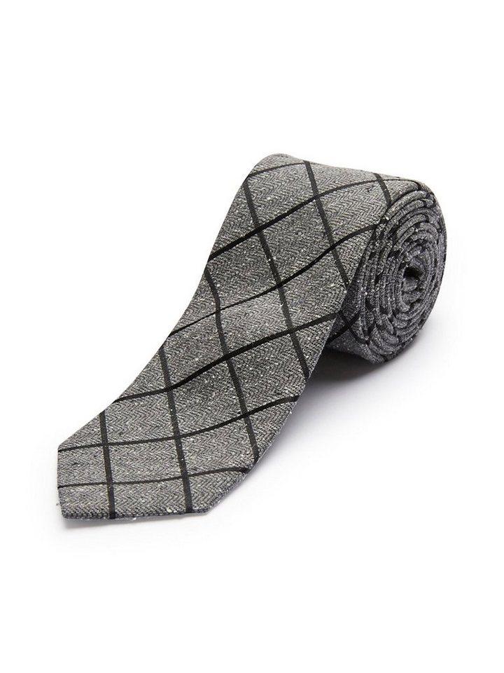 Selected Seiden- Krawatte in Grey 4