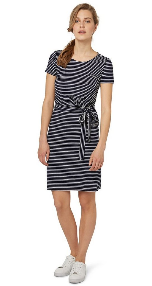 TOM TAILOR Kleid »gestreiftes Jersey-Kleid« in real navy blue