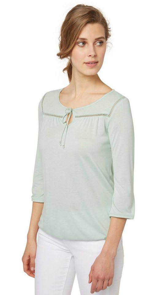 TOM TAILOR T-Shirt »sommerliche Jersey-Tunika« in fresh mint green