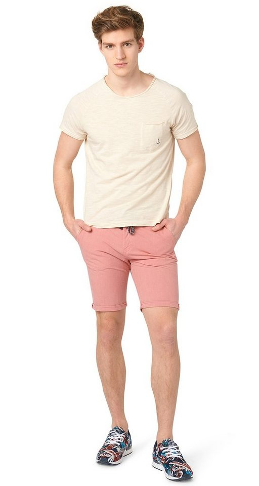 TOM TAILOR DENIM Shorts »Chino-Bermuda mit Bindeband« in faded rose