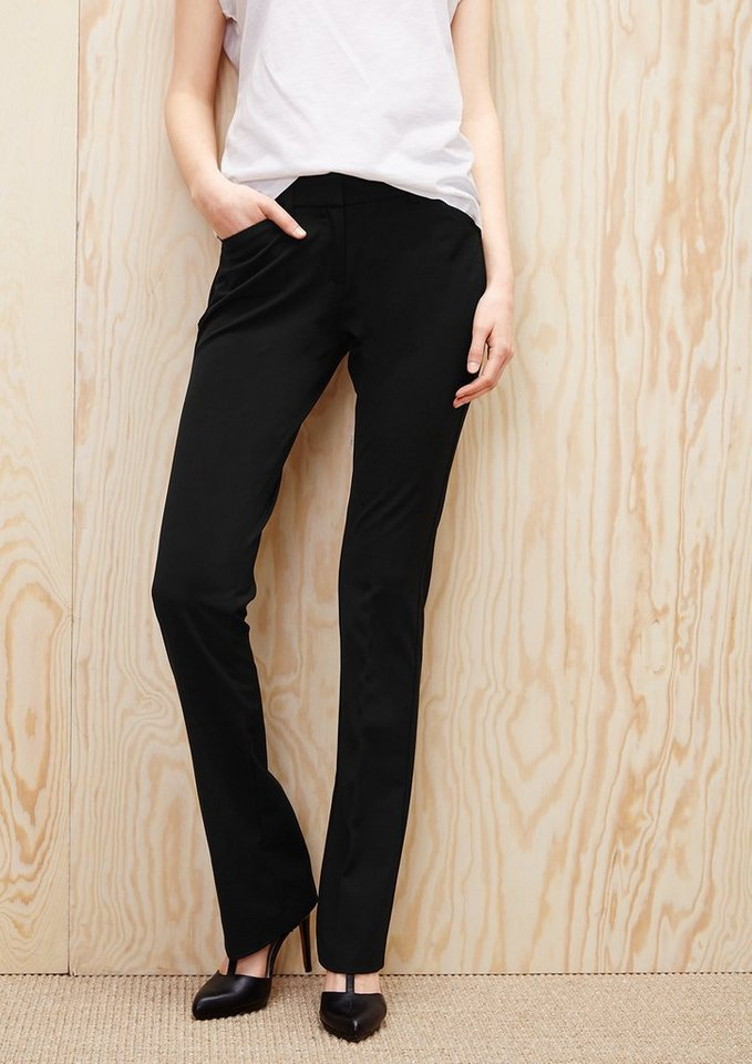 s.Oliver RED LABEL Shape Bootcut: Stretchige Stoffhose in black
