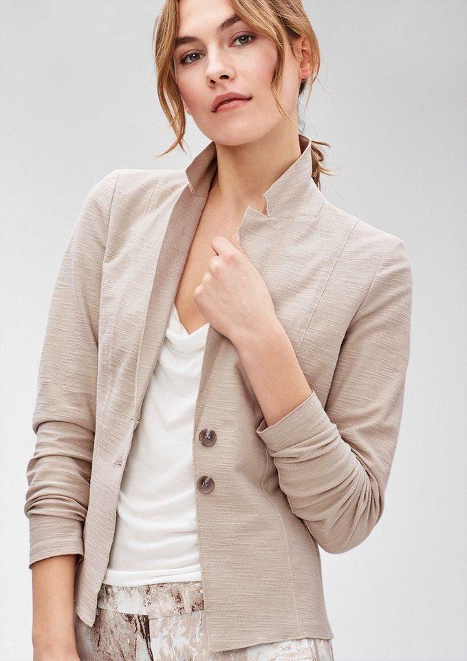 s.Oliver PREMIUM Blazer aus strukturiertem Jersey in sweet beige
