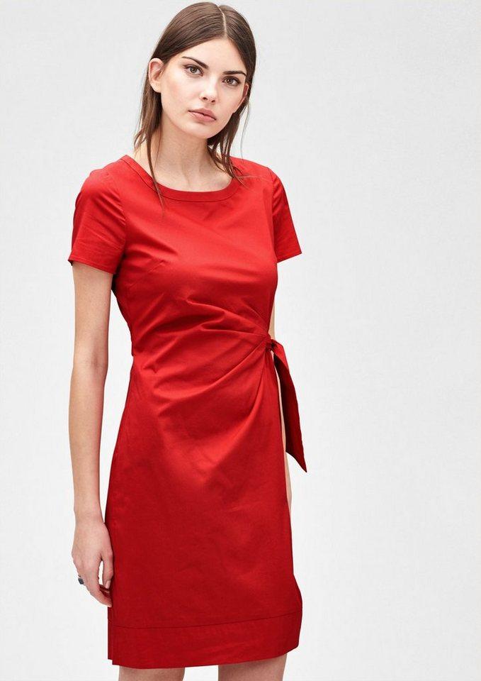s.Oliver PREMIUM Stretchkleid mit Drapé-Effekt in love red